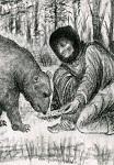Η Οσία Σοφία η εν Κλεισούρα ταϊζει μια αρκούδα