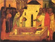 Ανακομιδή Ιερών Λειψάνων του Οσίου Αλεξίου του θαυματουργού