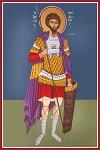 Άγιος Θεόδωρος ο Στρατηλάτης - Καζακίδου Μαρία© (byzantineartkazakidou. blogspot.com)