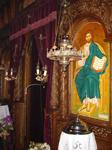 Μέρος του τέμπλου με<br />την Αγιογραφία του<br />Κυρίου μας Ιησού<br />Χριστού
