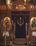 Το τέμπλο του καθολικού<br />της Ιεράς Μονής