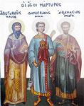 Άγιοι Αριστοκλής ο πρεσβύτερος, Δημητριανός διάκονος και Αθανάσιος αναγνώστης