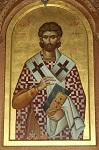 Άγιος Αστείος επίσκοπος Δυρραχίου - Εικόνα στο Ναό του Ευαγγελισμού, Τίρανα