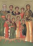 Άγιοι Επτά Μακκαβαίοι, η μητέρα τους Σολομονή και ο διδάσκαλός τους Ελεάζαρος