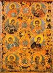 Άγιοι Επτά Μακκαβαίοι και ο διδάσκαλός τους Ελεάζαρος - 17ος αι. μ.Χ. - Mονή Παντοκράτορος, Άγιον Όρος