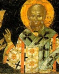 Ο Άγιος Νήφων Πατριάρχης Κωνσταντινούπολης και ο βοεβόδας της Bλαχίας Nεάγκοε Mπασαράμπ (1512 - 1521 μ.Χ.), κτήτορας της Mονής Διονυσίου - α' τέταρτο 16ου αι. μ.Χ. - Mονή Διονυσίου, Άγιον Όρος