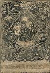 Παναγία η Χρυσορρογιάτισσα - Αναπαραγωγή της χαλκογραφίας που έγινε γύρω στα μέσα του 20ού μ.Χ. αιώνα