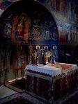 Το Ιερό Βήμα του Καθολικού της Ιεράς Μονής Παναγίας Δοβρά