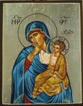 Παναγία Θαλασσινή (Η πρότυπη εικόνα είναι η Παναγία Παραμυθίας) - Λυδία Γουριώτη© (http://lydiagourioti-iconography.blogspot.com)