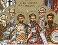 Εύρεσις των τιμίων λειψάνων των Αγίων Σεραφείμ, Δωρόθεου, Ιάκωβου, Δημήτριου, Βασίλειου και Σαράντη