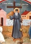 Ο Άγιος Κοσμάς κηρύττων - Τοιχογραφία στο μοναστήρι Μεταμόρφωσης του Σωτήρος, Δρυόβουνου Κοζάνης