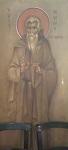 Όσιος Νικόλαος ο Κουρταλιώτης - Εκκλησάκι Αγίου Ιωάννου και Αγίου Νίκωνος του Μετανοείτε, Καρτερός, Ηράκλειο Κρήτης - Οι Αγιογραφίες είναι του Τάκη Μόσχου εκ Μονεμβασίας