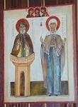 Όσιος Συμεών ο Στυλίτης και Αγία Genevieve των Παρισίων