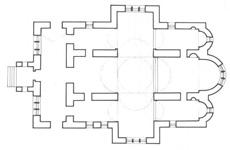 Κάτοψη του Ναού της Παναγίας Σκριπούς στον Ορχομενό