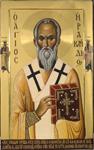 Άγιος Ηρακλείδης επίσκοπος Ταμάσου Κύπρου - Εικόνα από το Aγιογραφείο της Μονής Βατοπαιδίου