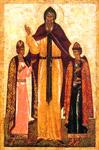 Άγιοι Θεόδωρος ο πρίγκιπας και Δαβίδ και Κωνσταντίνος οι υιοί του