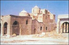 Το μοναστήρι της<br /> Αχειροποιήτου στο χώρο<br />της αρχαίας Λαπήθου - Λάμπουσας