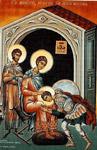 Ο Άγιος Δημήτριος ο Μυροβλύτης μαζί με τον Άγιο Νέστωρ