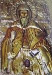 Η ασημένια εικόνα του Αγ.Θεράποντα, η οποία βρίσκεται στην παλαιά εκκλησία. Στο κάτω μέρος είναι γραμμένα με κεφαλαία γράμματα τα εξής: «1915- Κεκόσμηται δαπάναις εκκλησίας Λυθροδόντα. Επιμέλεια Χατζηκασσιανού Πιερή, Αντωνίου Συμεού, Ηλία Παναγιώτου. Σχεδιαστής: Φώτιος Ιερομόναχος Μαχαιρά. Καλλιτέχνης: Μιχαήλ Κ. Χρυσοχού εξ' Ανω Λευκάρων»