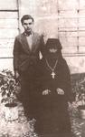 Ο Όσιος Γεώργιος Καρσλίδης με πνευματικό του τέκνο.