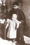 Ο Όσιος Γεώργιος Καρσλίδης με την βαπτιστικιά του Αν. Τσολακίδου (07/02/1957 μ.Χ.).