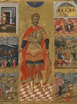 Άγιος Μηνάς «ὁ ἐν τῷ Κοτυαείῳ» ο Μεγαλομάρτυρας - Εμμανουήλ Λαμπάρδος, αρχές 17ου αιώνα μ.Χ.