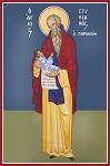 Όσιος Στυλιανός ο Παφλαγόνας - Καζακίδου Μαρία© (byzantineartkazakidou. blogspot.com)