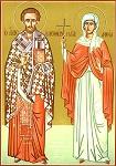 Ο Άγιος Ελευθέριος με την μητέρα του Αγία Ανθία