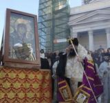 Υποδοχή της Παναγίας της<br />Βηθλεεμίτισσας στον<br />Πειραιά τον Νοέμβριο του<br />2009 μ.Χ.